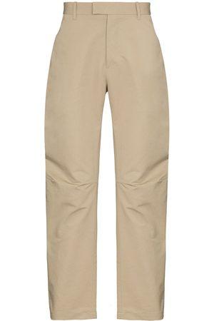 Bottega Veneta Straight-leg cotton trousers - Neutrals