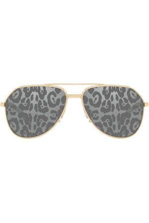 Dolce & Gabbana Leopard pattern tinted sunglasses