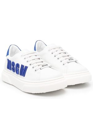 Msgm Boys Sneakers - Logo-embroidered sneakers