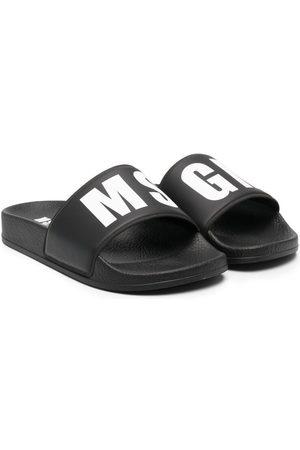Msgm Sandals - Logo-print slides