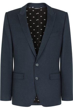 Dolce & Gabbana Men Blazers - Single-breasted cashmere blazer