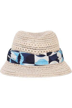 Dolce & Gabbana Men Hats - Ribbon-trim sun hat - Neutrals