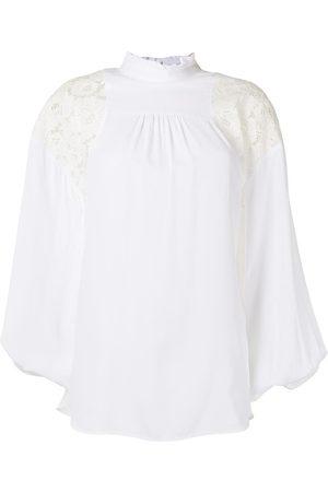 Nº21 Lace shoulders oversized blouse