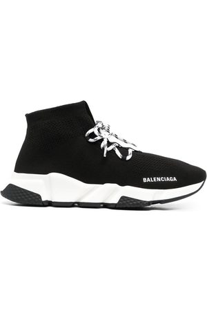 Balenciaga Men Sneakers - Speed sock lace-up sneakers