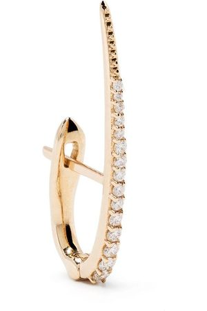 Metier by Tom Foolery Women Earrings - 9kt yellow diamond Large Skinny Point huggie earring