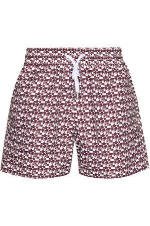 Frescobol Carioca Geometric-print swim shorts