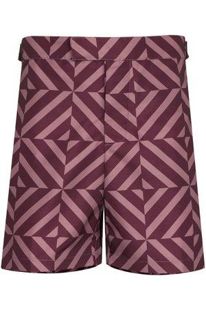 Frescobol Carioca Men Swim Shorts - Angra geometric-print swim shorts