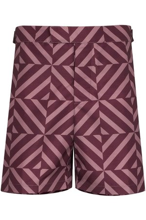Frescobol Carioca Men Swim Shorts - Angra Tile-print tailored swim shorts