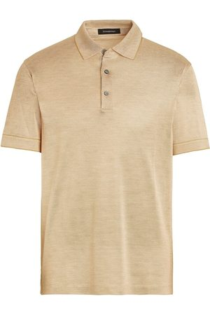 Ermenegildo Zegna Short-sleeve silk polo shirt