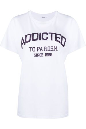 P.a.r.o.s.h. Women T-shirts - Crystal embellished logo T-shirt