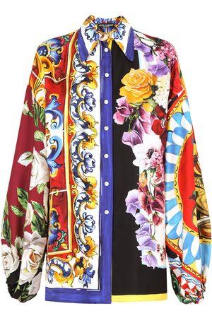 Dolce & Gabbana Patchwork-print silk shirt