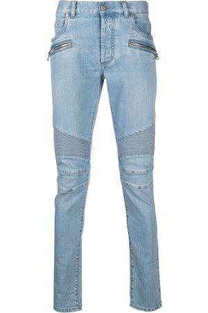 Balmain Biker-detail skinny jeans