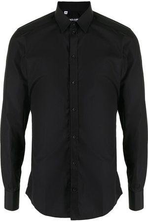 Dolce & Gabbana Men Shirts - Button-down poplin shirt