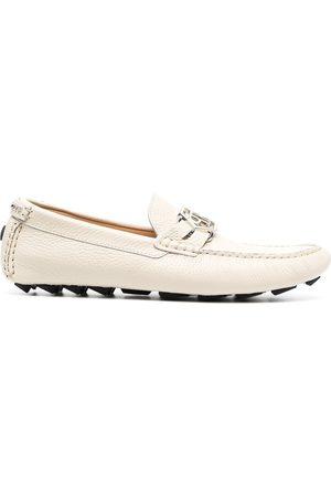 Philipp Plein Mocassin hexagonal leather loafers - Neutrals