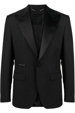 Philipp Plein Slim fit tiger motif suit jacket