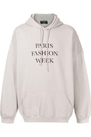 Balenciaga Hoodies - Paris Fashion Week oversized hoodie - Grey