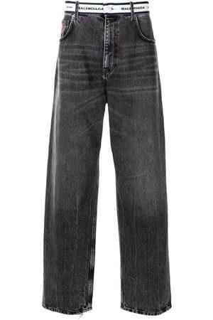 Balenciaga Logo-waistband straight-leg jeans