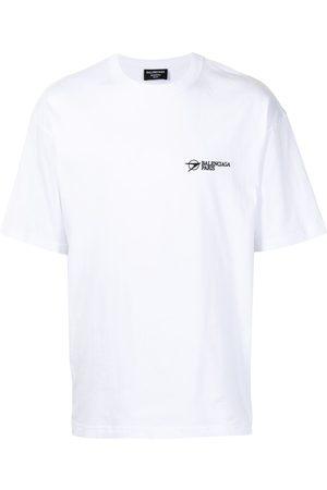 Balenciaga Men T-shirts - Logo-embroidered T-shirt
