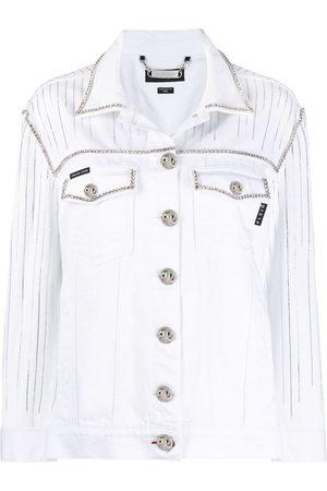 Philipp Plein Women Denim Jackets - Fringe-detail denim jacket