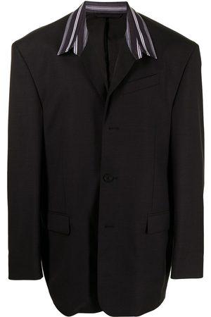 Balenciaga Oversized contrast-collar blazer