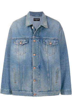 Balenciaga Denim Jackets - Oversized zip-up denim jacket