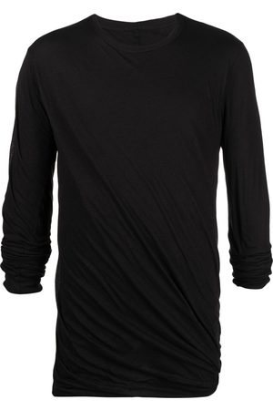 Rick Owens Long-sleeved gathered t-shirt
