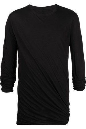 Rick Owens Men Long Sleeve - Long-sleeved gathered t-shirt