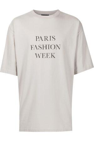 Balenciaga T-shirts - Slogan-print T-shirt - Grey