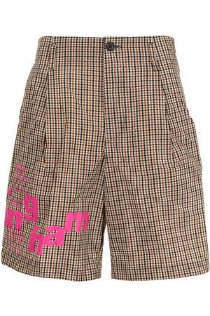 Kolor Men Bermudas - Plaid-check pattern shorts - Multicolour