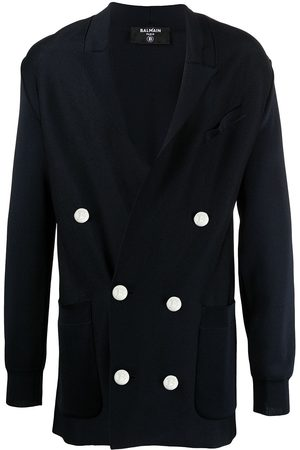 Balmain Knitted double-breasted blazer