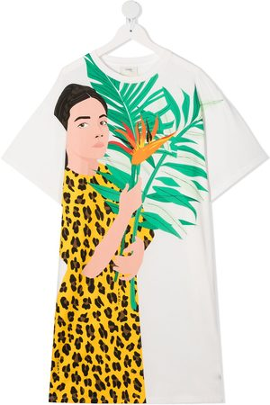 Fendi TEEN graphic-print T-shirt dress