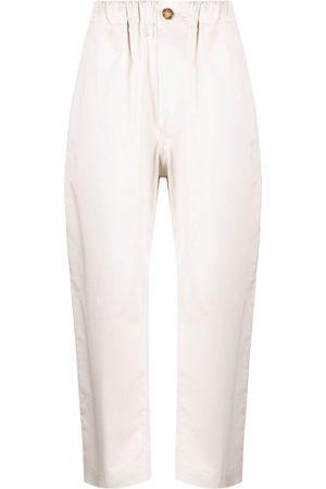 SOFIE D'HOORE Straight-leg cotton trousers - Neutrals