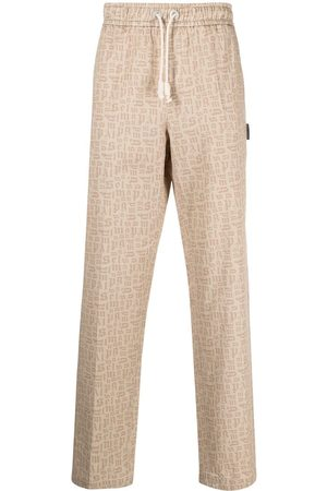 Palm Angels All-over monogram track pants - Neutrals
