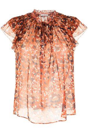 ULLA JOHNSON Tess floral blouse