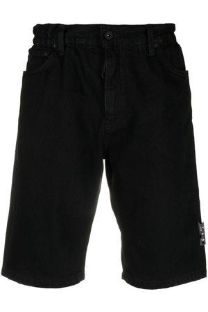 OFF-WHITE Logo-belt denim shorts
