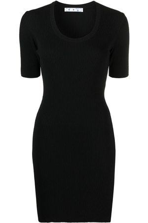 OFF-WHITE Logo stripe knitted dress