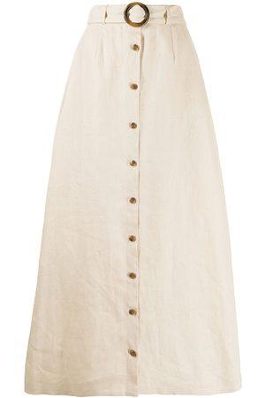 Lisa Marie Fernandez Women Maxi Skirts - Belted maxi skirt - Neutrals