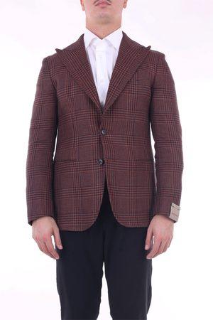 Sartitude Napoli Blazer Men Rust and linen and cotton