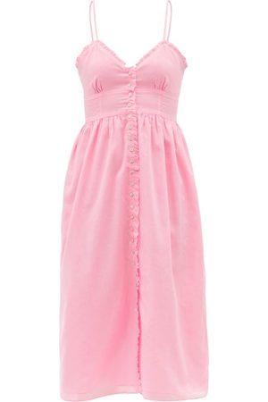Loup Charmant Women Midi Dresses - Avalon Organic-cotton Midi Dress - Womens