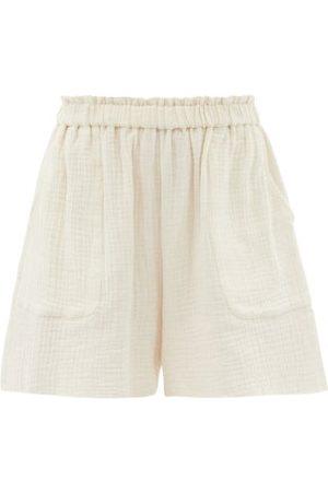 Loup Charmant Women Shorts - Expedition Organic-cotton Shorts - Womens - Ivory