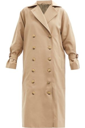 Totême Women Trench Coats - Double-breasted Cotton-blend Gabardine Trench Coat - Womens