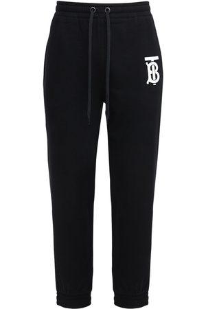 Burberry Tb Logo Print Cotton Jersey Sweatpants