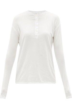 Domi Organic-cotton Blend Jersey Henley T-shirt - Womens
