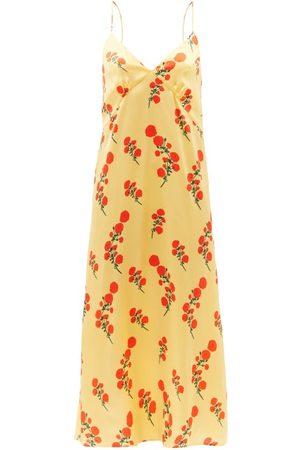 Bernadette Women Sweats - Jeanine Floral-print Silk-blend Satin Nightdress - Womens