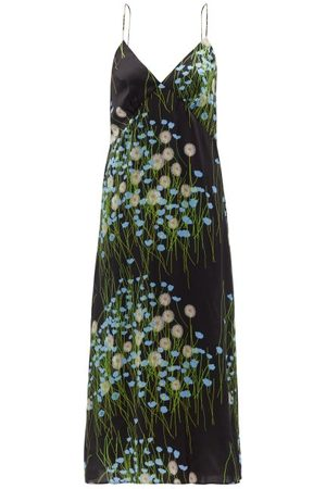 Bernadette Women Sweats - Floral-print Silk-blend Satin Nightdress - Womens