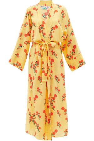 Bernadette Blossom Silk Crepe-de-chine Robe - Womens