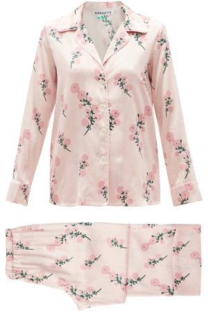 Bernadette Women Pajamas - Floral-print Silk-blend Satin Pyjamas - Womens - Light