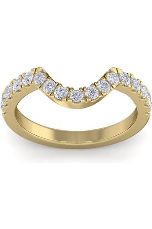SuperJeweler Women Rings - 1/2 Carat Matching Moissainte Wedding Band in 14K (3.0 g)