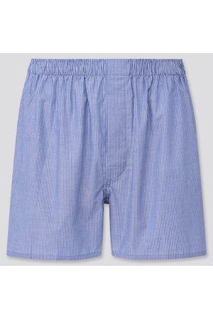 UNIQLO Men Boxer Shorts - Men's Woven Striped Boxers, , S