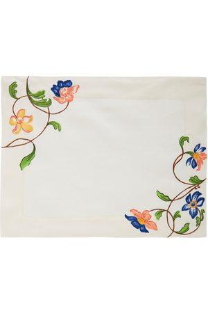 Cabana Women Flora Hand Embroidered Placemat - Color: - Material: 100% Linen - Moda Operandi